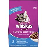 Whiskas SeaFood, Selections Salmon And Shrimp Flavors Dry Cat Food, 3 Pounds