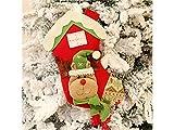 Yunqir Flannel Christmas Socks Candy Bag Gift Bag Showcase Decoration Pendant(Elk)