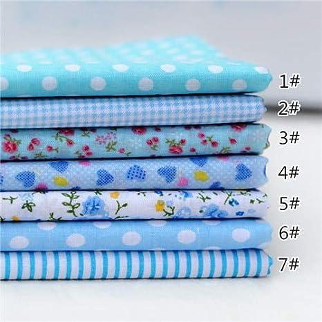 Kallar - 1 juego de 7 piezas de tela de algodón para coser y hacer ...