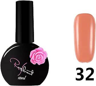 ❀ Vernis Gel Semi Permanente UV LED – higlles esmalte de uñas Nail Gel Soak Off Manicura Salón Kit 10 ml, 15 colores UV LED: Amazon.es: Belleza