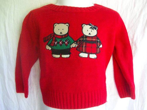 Kids 2t 24 Months Red Mr Mrs Winter Holiday Bear Sweater Outerwear