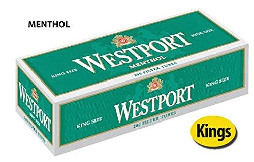 Westport Menthol King Size Filtered Cigarette Tubes (20 - Westport Outlets