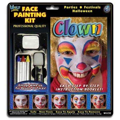 Wolfe Clown Face Painting Kit ()