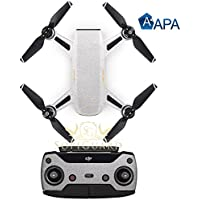 SopiGuard APA Satin Silver Aluminium Precision Edge-to-Edge Coverage Vinyl Sticker Skin Controller 3 x Battery Wraps for DJI Spark
