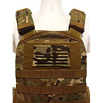 """Tactical 3.5/"""" x 2/"""" THERMAL OCP FLIR REFLECTIVE Flag Patch Reversed Multicam"""