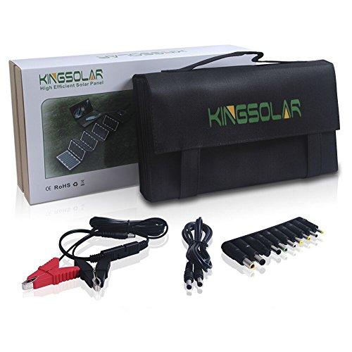 KINGSOLAR™ Highest Efficient 60W Foldable Solar Panel Portable Solar Charger Dual Output (USB Port + DC Output) by KINGSOLAR™