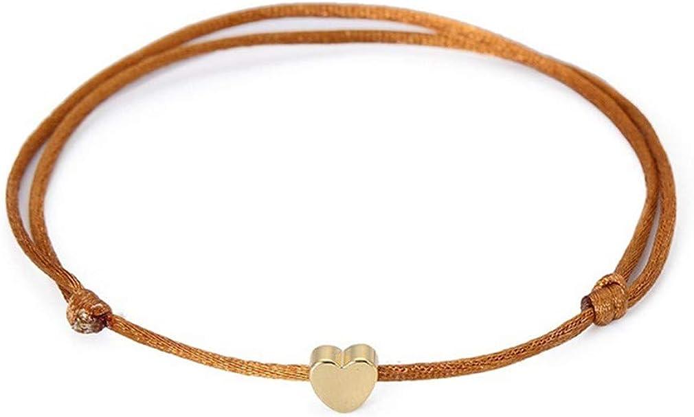 Timetries Simple Le Tissage Cheville Lamour Pendentif Bijoux Pieds Nus Sandale Plage Cheville Bracelet
