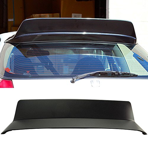 Pre-painted Roof Spoiler Fits 1996-2000 Honda Civic | BYS Style Painted Matte Black ABS Added On Lip Wing Bodykits Body kit by IKON MOTORSPORTS | 1996 1997 1998 1999 2000 ()