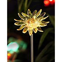 BRIGHT ZEAL Solar Powered Garden Stake Light with Vivid Figurines in Life Sizes - SUNFLOWER - LED Solar Patio Lights - Garden Decor Solar Lights - Yard Decoration Stake Lights 1382