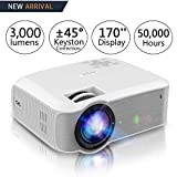 Projector, Salange HD Movie Projector with 1080P Support,Mini Portable Led Video Projector