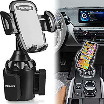 Adjustable Automobile Smart Phone Cradle Car Mount for iPhone 11 Pro//XR//XS Max//X//8//7 Plus//6s//Samsung S10+//Note 9//S8 Plus//S7 Edge Car Cup Holder Phone Mount,Upgraded Cell Phone Holder for Car