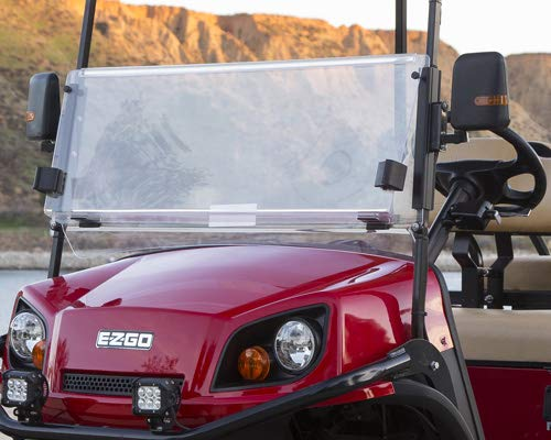 Buggies Unlimited EZGO Express Series S4 / L4 Golf Car Folding Windshield ()