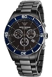 Emporio Armani Men's AR1429 Ceramic Black Chrnongraph Dial Watch