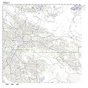 Redlands Zip Code Map.Amazon Com Redlands Ca Zip Code Map Laminated Home Kitchen