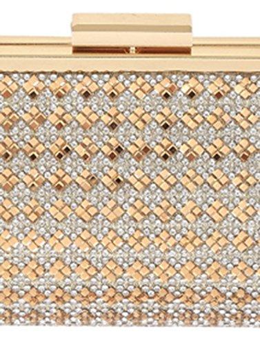 Shoulder Formal Metalic Rhinestones GOLD Bag MAB40009 Clutch Purse Fabric w4XKxqUZz