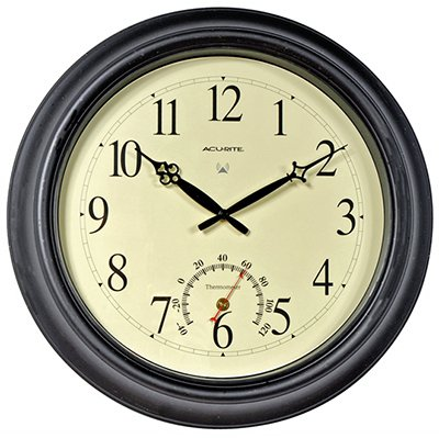 (Chaney Balmoral Atomix Black 18 in. Wall Clock)