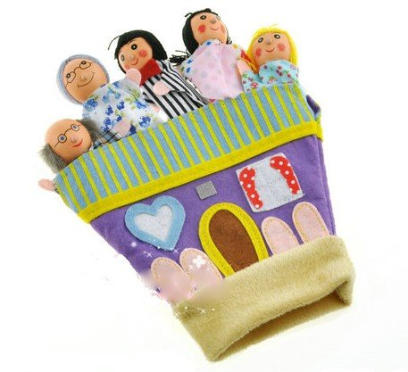 Coolkids Finger Puppets Glove Happy Family Parenting Parent-child Toy Good Helper for Telling Story