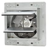 Iliving ILG8SF7V Wall-Mounted Variable Speed Shutter Exhaust Fan Crawl Space Ventilator, 7''