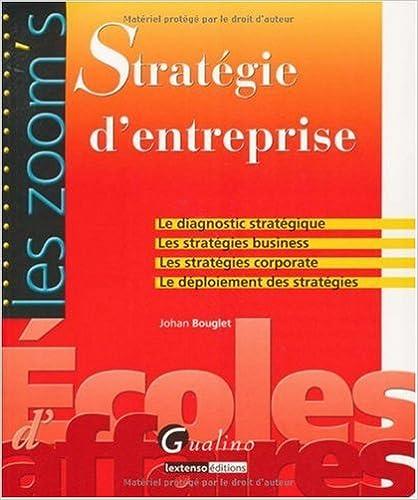 Téléchargement Stratégie d'entreprise pdf epub