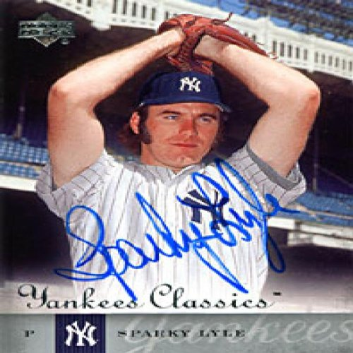 Sparky Lyle Autographed / Signed 2004 UpperDeck No.60 New York Yankees Baseball Card