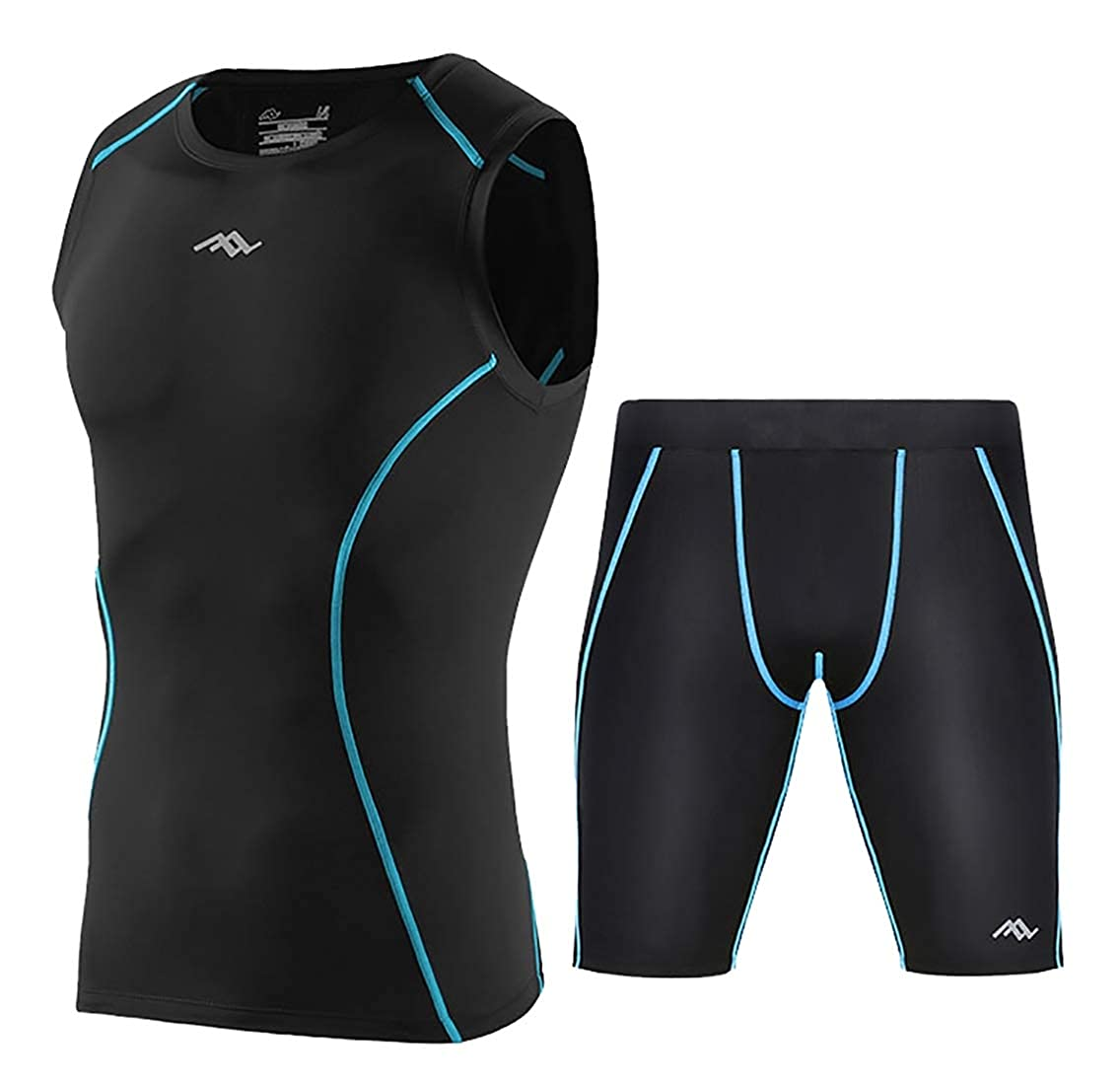 Mens Lightweight Sport Athletic Fitness Sports Suit Shirt+Pants Set