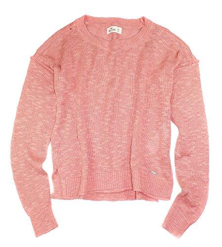Hollister Oberbekleidung Returns Exchanges Hollister Pullover Hollister Hoodies Hollister Jeans: Hollister Women's Crew Neck Crop Knit Sweater HO3 (Pink
