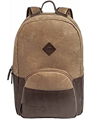 BENRUS Sentry Backpack Waxed Canvas Leather