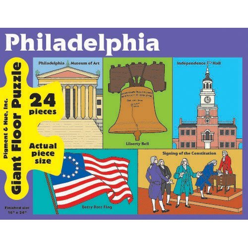 Philadelphia Giant Floor Puzzle 24 Pieces