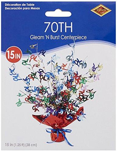 70 Gleam 'N Burst Centerpiece (multi-color) Party Accessory  (1 count) (1/Pkg)