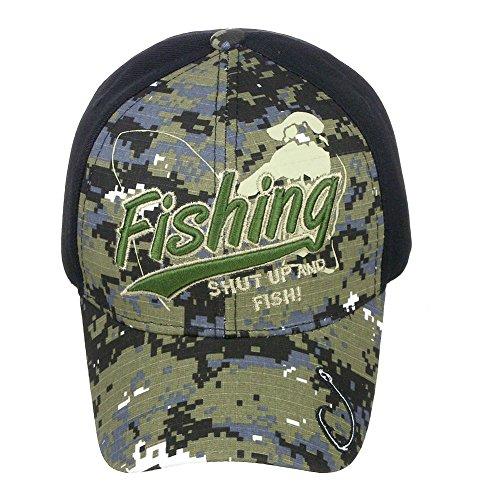 USA Headwear Fishing High Definition Embroidery Logo Camo Baseball Cap Hat One Size - Digital Camo