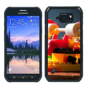 Unique Samsung Galaxy S6 Active Case ,Fashionable And Popular Designed Case With Lego Fitness Black Samsung Galaxy S6 Active Cover Case Good Quality Phone Case
