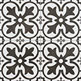 18x18 Balenciaga Pattern Tile Made in Spain Genuine Ceramic White/Black