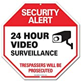 Video Surveillance Sign - Security Alert - No Trespassing Sign - 'Legend - Large 12 X 12 Octagon Rust Free 0.40 Aluminum Sign