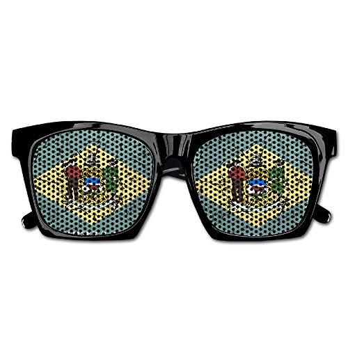 Elephant AN Themed Novelty Retro Delaware Flag Fashionable Visual Mesh Sunglasses Fun Props Party Favors Gift - Delaware Eyeglasses