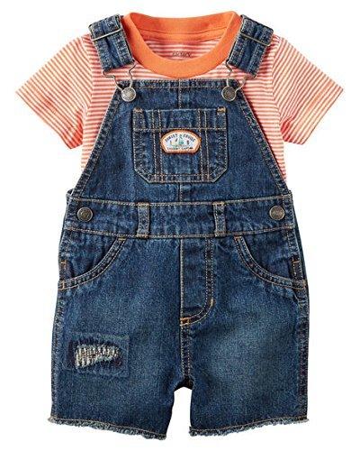 Carter's Baby Boys' Striped Shortalls Set 3 - Boy Shortalls Baby