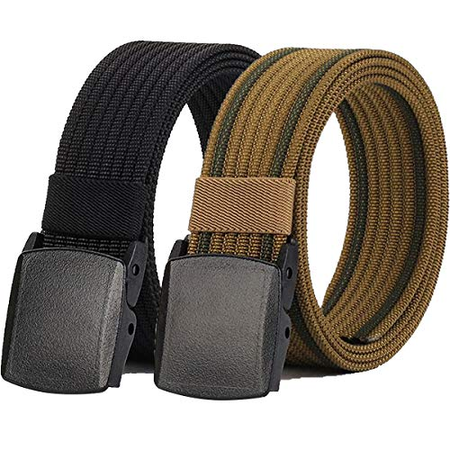 Hoanan Non-Metal Nylon Belt, Mens Casual Web Jeans Waist Belt Tactical Work Belt