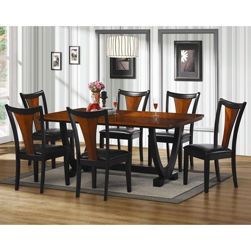 Coaster Boyer 7 Piece Rectangular Dining Set in Black and Cherry