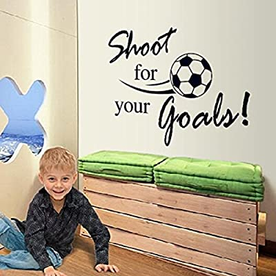 "Yesurprise PVC Removeable Wall Art Sticker Decal DIY Room Kid Mural Decor "" Good "" Letter Soccer Football"