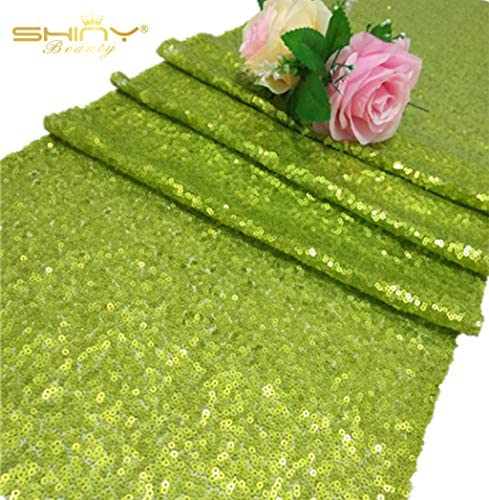 ShinyBeauty Sequin Table Runner Green product image