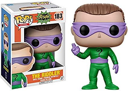 Funko- Pop Heroes 1966-The Vinyl: DC: Batman 66: The Riddler, Multicolor (13628)