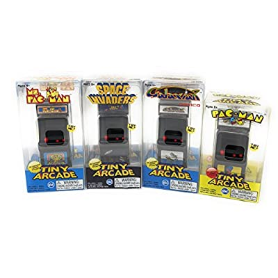 Tiny Arcade Games Boxed Set of 4 - Pac-Man - Galaxian - Space Invaders - Ms Pac-Man: Toys & Games