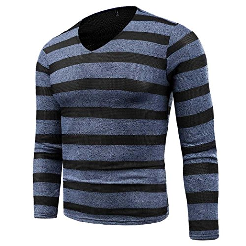 Gillberry Mens Shirt, Men's Autumn Winter Sweater Pullover Slim Jumper Knitwear Shirt Tops (Blue, XL=Asia - Asia Cake Sunglasses