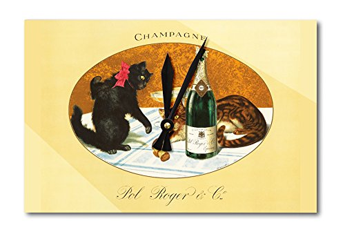 champagne-pol-roger-vintage-poster-c-1921-acrylic-wall-clock