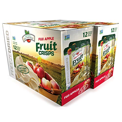 Brothers-ALL-Natural Fuji Apple Crisps, 0.35-Ounce Bags (Pack of 24) ()