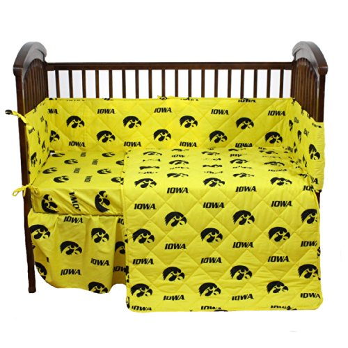 College Covers Iowa Hawkeyes 5 Piece Baby Crib Set by College Covers