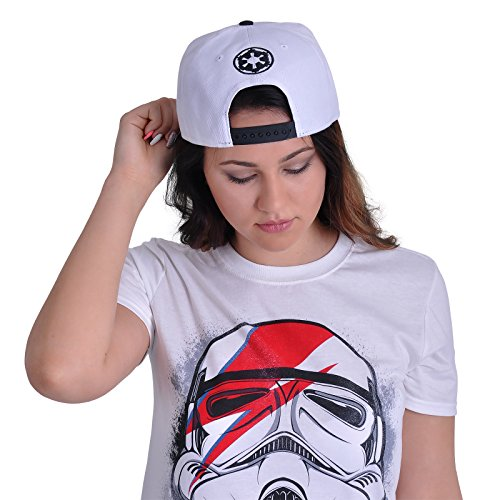 cooles original STAR WARS FLAT 6 PANEL Snapback Basecap Cap Hip Hop Star Wars TROOPER LOGO weiß