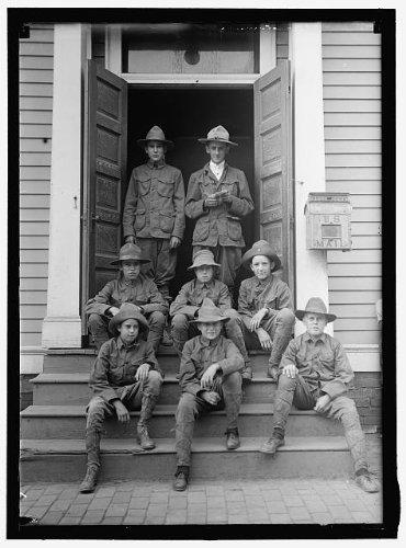 HistoricalFindings Photo: Boy Scouts in Uniform,1913,Boys,Scouting Movement,Harris & Ewing,2