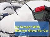 EFORCAR(R) Car Van Ice Scrapper Thermal Glove Mitt Mitten Frost Snow Windscreen (Blue)