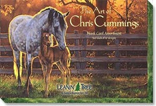 Stationery Horse (The Art of Chris Cummings - [AST90630] Blank Horse Greeting Card Assortment by Leanin' Tree - 20 cards with full-color interiors and 22 designed envelopes)