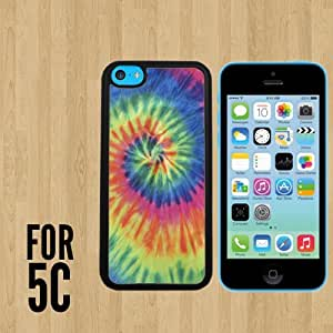 Artsy Abstract Hipster Tie Dye Custom made Case/Cover/skin FOR iPhone 5c -Black - Rubber Case